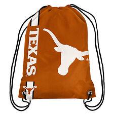 5f16191b82 NCAA BPNC15DSTX Texas Longhorns Drawstring 100 Polyester Backpack 18.75