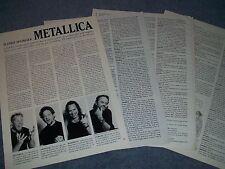 2001 Metallica Interview Article Hetfield Newsted Hammett Ulrich