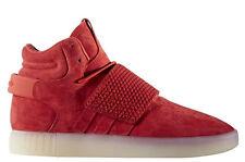 ADIDAS Originals Tubular Invader Strap Men's Running Training Shoes Red BB5039