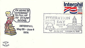 US Cover Sc# 1632 Interphil 76-canceled 5/30 Federationl Day w/cachet - US 8202