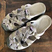 KEEN Whisper Gray & Lavender  Slip On Mule Sandal Women's SZ 8 38 excellent