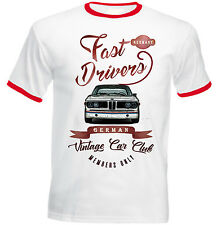 BMW CSL E9 FAST DRIVERS - NEW COTTON TSHIRT - ALL SIZES IN STOCK