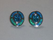 Handmade Aquamarine Stud Fine Earrings