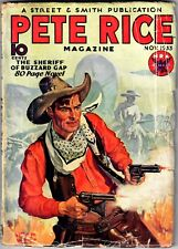 PETE RICE Pulp - November 1933 - #1 1st issue, Scarce, Baumhofer cover