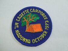 Vintage 1973 Girl Scouts Cadette Camporee Mountain Madonna October Sew On Patch