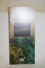 Montblanc Hemingway Booklet Owners Instruction Manual Book English