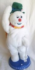 Gemmy Frosty the Snowman Swings Lighted Snowflakes Sings, No Dance/Hat Tip Clean