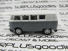 Welly 1/60 Scale LOOSE Gray & White 1960's VOLKSWAGEN VW SAMBA MICROBUS #8166D