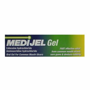 Medijel Sore Gums Denture Care Mouth Ulcer Treatment Gel 15g