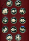 The Set of 13 Official Coats of Arms of Canada 1997 Solid Sterling Silver (OOAK)