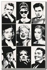 QUALITY CANVAS PRINT `Hollywood Legends' Marilyn Monroe, Audrey Hepburn A2
