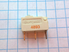 Burgess F5T8-GP 5A 250 VAC SPDT SnapAction Ultraminiature Microswitch Gold plate