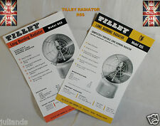 TILLEY LAMP RADIATOR R55 SPECIFICATIONS AND PARTS  LEAFLET TILLEY INSTRUCTIONS