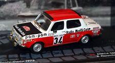 1/43 IXO Rally Collection Simca 1000 Rallye 2 #34 Monte Carlo 1973