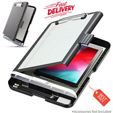 Clipboard with Storage Portable Slimcase Box Case Real Hinge Lightweight Plastic