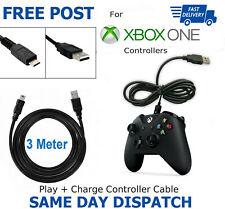 XBOX ONE Charging Cable Black GamePad Controller Charger Lead Micro USB xbox 3m