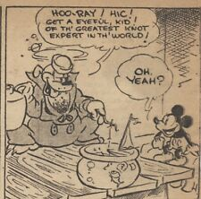 Mickey Mouse Daily Strip - Feb 14, 1931 - VERY RARE Early Floyd Gottfredson art