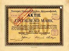 Vereinigte Glanzstoff-Fabriken Elberfeld Aktie 1921 Wuppertal Enka Akzo Acordis