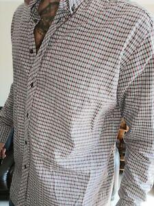 Mens Jeff Banks Long Sleeve Shirt Size XXL Check Pattern