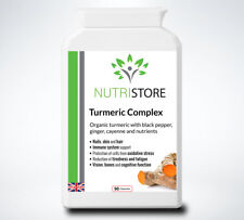 Organic Turmeric 1580mg with Black Pepper Ginger Root and Cayenne 90 Capsules