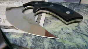 GH5074 United Cutlery Gil Hibben Legacy Ulu 5Cr15 Blade Wood Handles Leather She