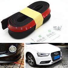 Black 2.5M Car SUV Rubber Lip Skirt Protector Front Bumper Spoiler Side Splitter