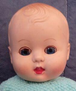 Vintage hard plastic Rosebud baby  doll c 1950. 30 cm tall. Ultra cute!