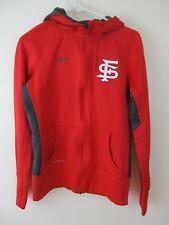 33026f7be0d0 S Nike Red San Francisco zip up jacket hoodie Thumb Holes