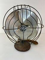 """General Electric GE """"Quiet Fan"""".  3speed Oscillating Fan 12"""" 1936 Working"""