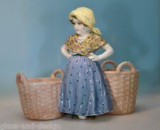 Goldscheider, Wien signierte Jugendstil Keramik Figur, Entwurf: E. Tell - 14106-