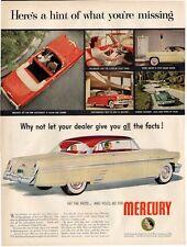 1953 Mercury  Red on Tan Hardtop & Orange/ Red Convertible Vintage PRINT AD