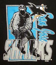 SAN JOSE SHARKS crewneck sweatshirt 1990s logo NHL youth lrg Logo 7 size 14-16