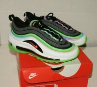 Nike Air Max 97 (GS) Athletic Sneakers White Green Black Boys Size 4 NEW IN BOX