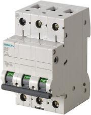 Siemens Sicherungsautomat Leitungsschutzschalter 5SL6310-6 10A TypC 3polig 5 Stk