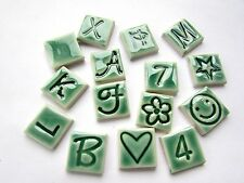 mosaic letters numbers and shapes 15 ceramic tiles you choose which