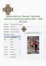 NORMAN UPRICHARD N IRELAND INTL 1951-1958 RARE ORIGINAL SIGNED MAGAZINE CUTTING