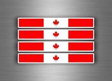 4x sticker decal car stripe motorcycle racing flag bike tuning canada canadian