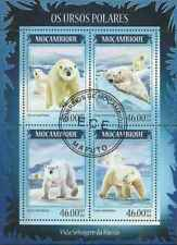 Timbres Animaux Ours Mozambique 6051/4 o année 2014 lot 24273 - cote : 17 €