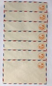 SCOTT #UC3 (Border b) (7) Unused Pre-stamped Airmail Envelopes 1934 Flaps Sealed