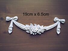 white Drawer Table Rose Swags Resin Decoration Furniture Moulding Carvings Onlay