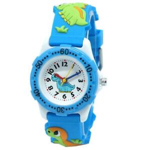 Children Cartoon Watch Student Boys Girls Wristwatch Kids Dinosaur Watches Gifts