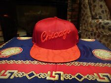 Chicago Bulls Snakeskin fitted hat (Red October Yeezy's)