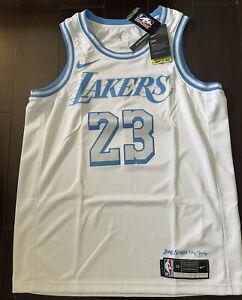 Nike Los Angeles Lakers Lebron James City Edition Swingman Jersey Size Large 48