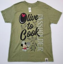 Disney Epcot Food & Wine 2020 Passholder T-Shirt Mickey Mouse Olive To Cook