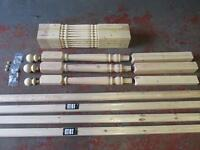 Pine Colonial 32mm Stair & Landing Balustrade Kit Spindles Newels Rails & Bases