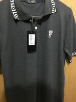 Versace Jeans Couture Cotton Embroidered Logo Blau Polo Shirt gr M - XXL