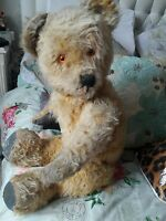 Antique large jointed mohair teddy bear collectors bear called benny