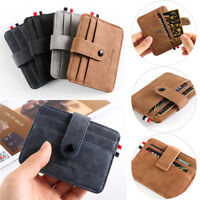 Multi-card position Business Leather Small Wallet ID Credit Case Card Holder