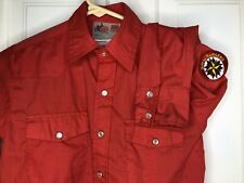 Vintage Royal Rangers youth 10 Shirt Red Western Pearl Snap Patch rockabilly