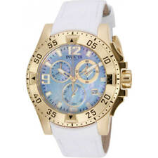 Invicta Women's Watch Excursion Yellow Gold Case White Leather Strap 16099